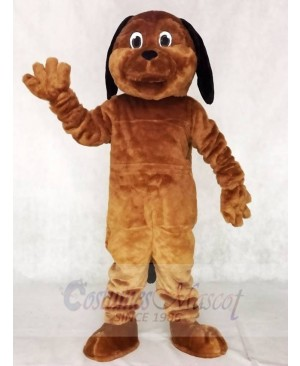 Black Ear Brown Dog Mascot Costumes Animal