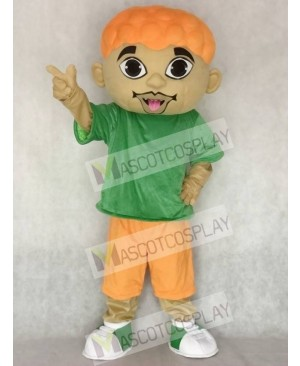 Cartoon DJ Boy Singer Artist Mascot Costume