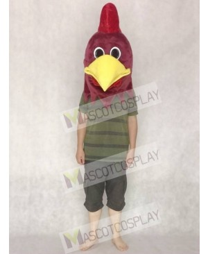 Cute Realistic Rusty Rooster Mascot HEAD ONLY Animal