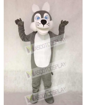 Grey Wolf Mascot Adult Costume Animal