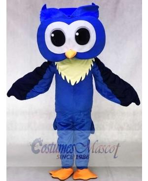 Adult Friendly Big Blue Owl Mascot Costume Animal