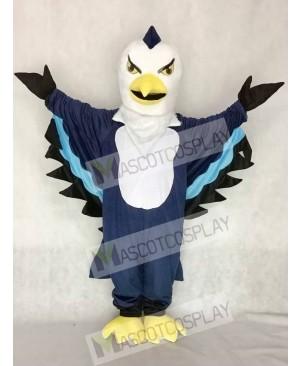 Cute Dark Blue Thunderbird Mascot Costume