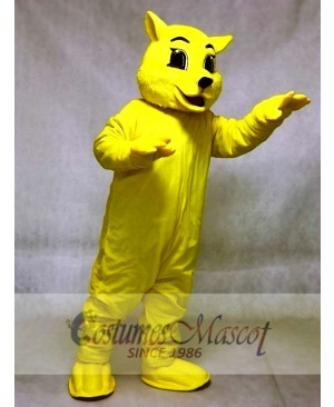 Cute Yellow Wildcat Cat Mascot Costumes Animal