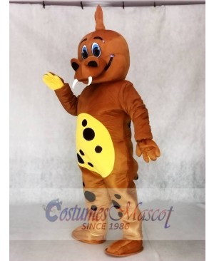 Golden Brown Dinosaur Mascot Adult Costumes Animal