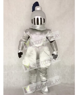 High Quality Silver Knight in Shining Armour Mascot Costume