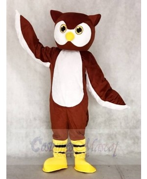 Brown Ollie Owl Mascot Costumes Animal