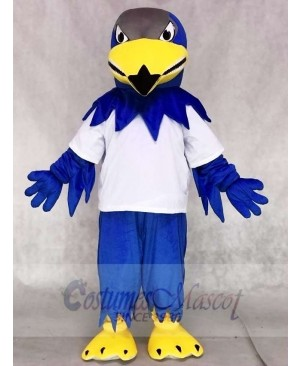 White Sport Shirt Blue Falcon Eagle Mascot Costumes Animal