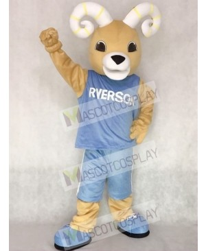 Ram Ryerson Mascot Costume in Blue Suit Animal Costume