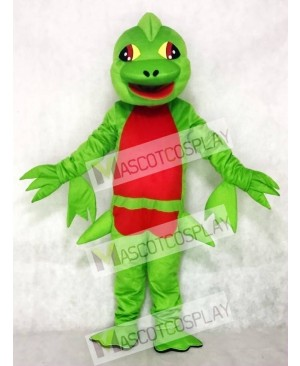 Green Pterosaur Flying Dinosaur Mascot Costume