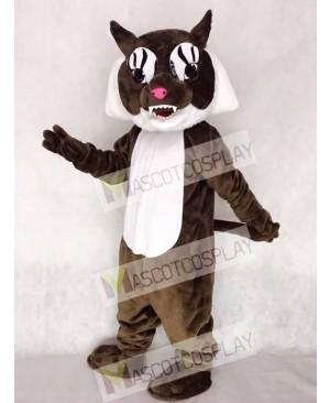 Cute Super Brown Wildcat Cat Mascot Costume
