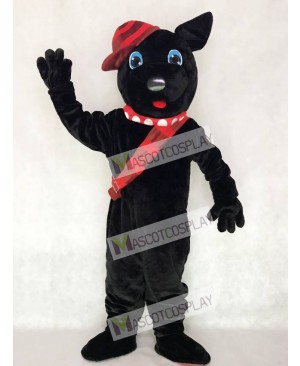 Black Scotty Dog Mascot Costume with Hat