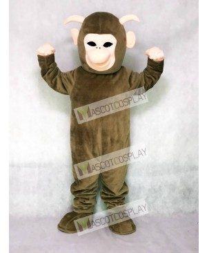 Brown Yeti Mascot Costume
