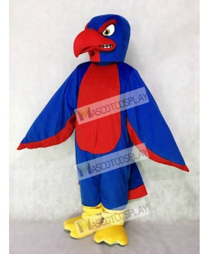 High Quality Adult New Fierce Royal Blue and Red Falcon Mascot Costume