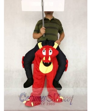 Piggyback Red Dragon Carry Me Ride on Mascot Costume