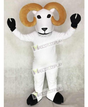 Cute White Ram Mascot Costume