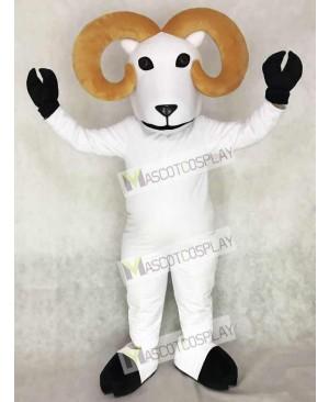 Cute White Ram Mascot Costume