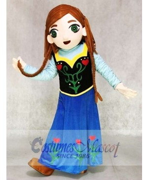 Frozen Princess Anna Mascot Costumes without Cape Cartoon