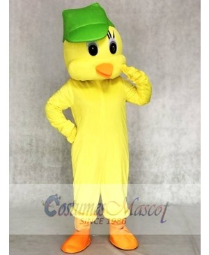 Little Yellow Tweety Bird Mascot Costumes with a Hat