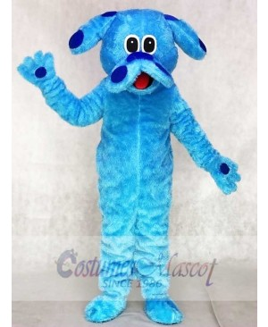 Hairy Blue Dog Mascot Costumes Animal