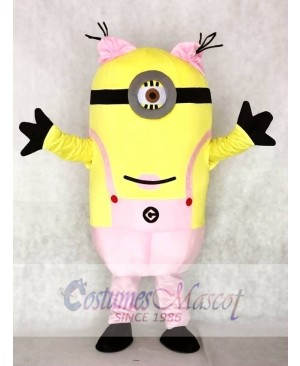 Despicable Me Pink One Eye Minions Mascot Costumes