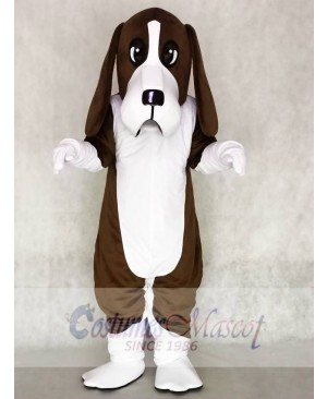 Cute Brown Basset Hound Dog Mascot Costume