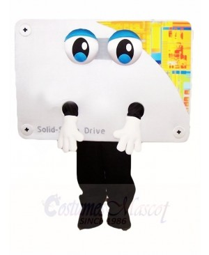 White Computer Displayer Mascot Costumes