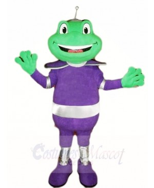 Frog in Purple Suit Mascot Costumes Animal