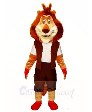 Lion in Red Shoes Mascot Costumes Animal