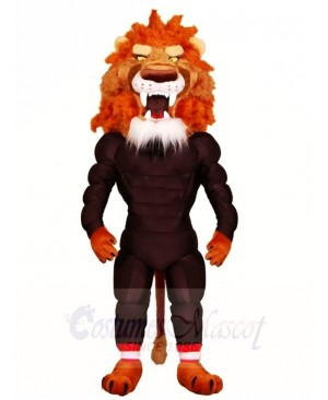 Fierce Muscle Lion Mascot Costumes Animal
