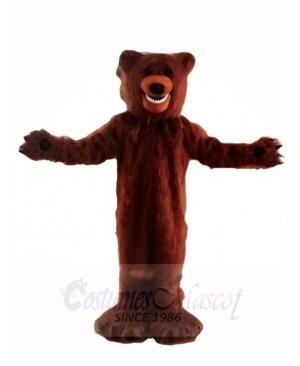 Hairy Brown Bear Mascot Costumes Animal