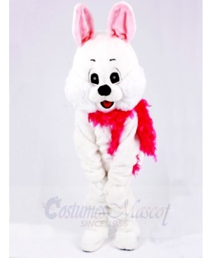 White Easter Bunny Rabbit with Red Scarf Animal