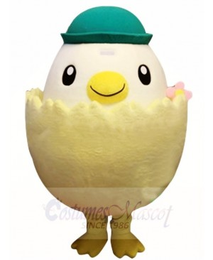 Green Hat Chick In Egg Mascot Costumes Poultry