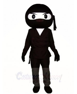 Black Ninja Warrior Mascot Costumes People