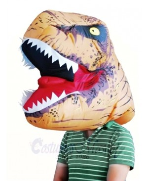 Jurassic World Inflatable Dinosaur Tyrannosaurus Rex Mask Headgear Only Halloween Christmas Xmas