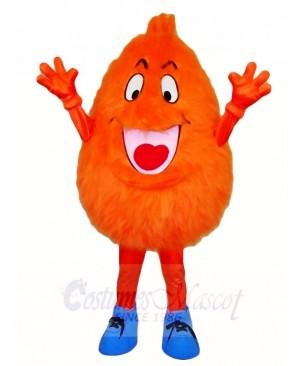 Fluffy Orange Monster Mascot Costumes