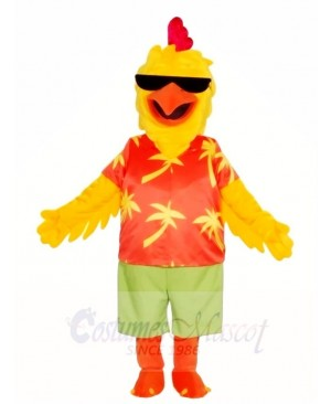 Hawaii Beach Rooster Mascot Costumes Poultry