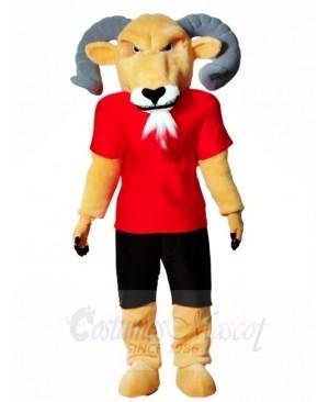 Ram with Red Shirt Mascot Costumes Animal