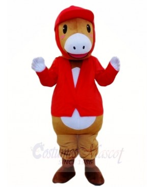 Riding Red Horse Parade Equestrianism Mascot Costumes Animal