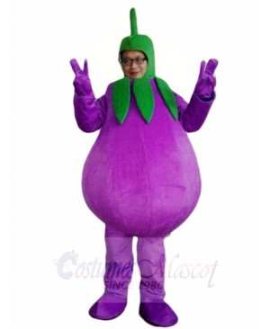 Face Show Eggplant Mascot Costumes Vegetable Plant