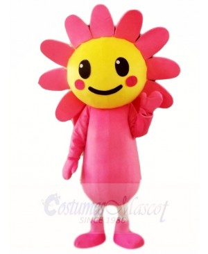 Pink Sun Flower Mascot Costumes Plant