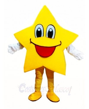 Smiling Twinkle Star Mascot Costumes Christmas Xmas