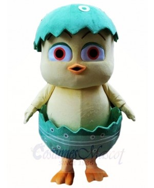 Cute Easter Chick in Egg Mascot Costumes
