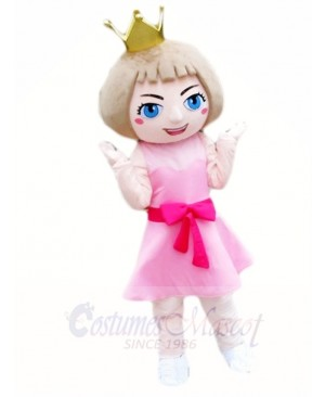 Pink Dress Princess Mascot Costumes Cartoon