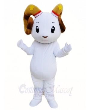 White Sheep Ram Mascot Costumes Animal