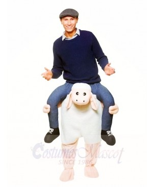 Piggy Back Sheep Carry Me Ride on Lamb Mascot Costumes Halloween