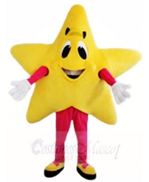 Yellow Twinkle Star Mascot Costumes Christmas Xmas