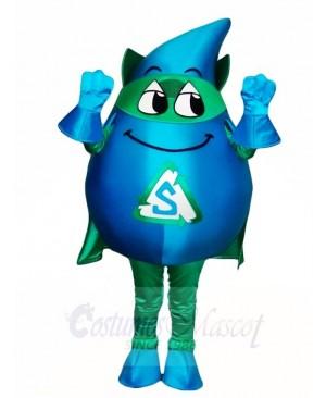 Blue Storm with Green Cloak Mascot Costumes