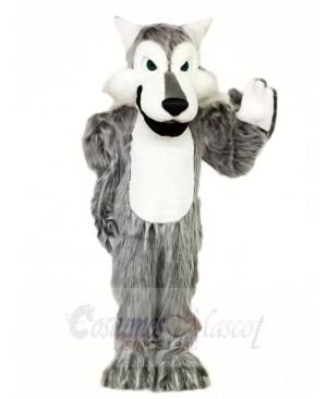 Hairy Grey Gray Wolf Mascot Costumes Animal