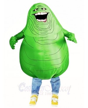 Ghostbusters Slimer Green Monster Inflatable Halloween Blow Up Costumes for Adul