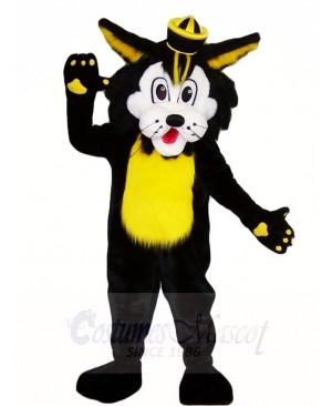 Black Wild Cat Mascot Costumes Animal